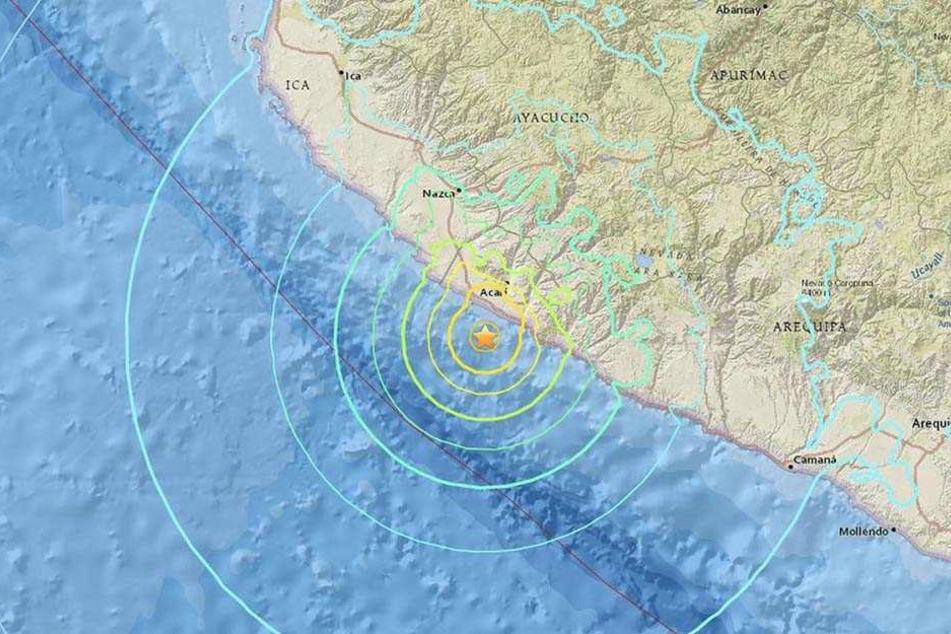 Das Erdbeben erreichte eine Stärke von 7,1.