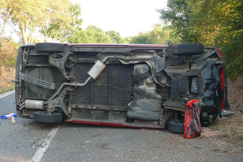 Die Fahrerin (21) musste nach dem Unfall ins Krankenhaus.
