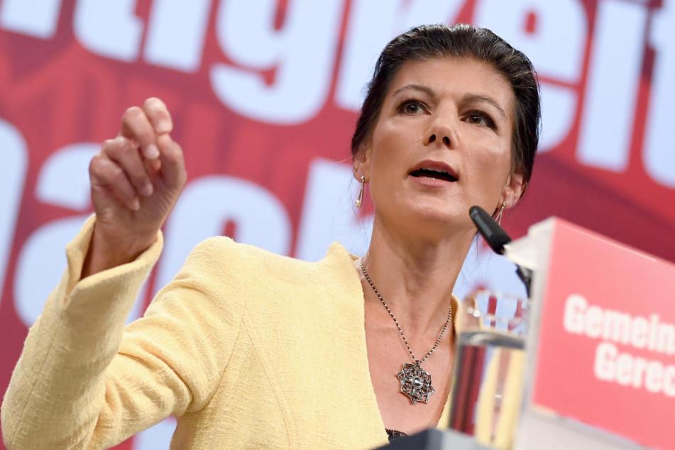 Die Linke-Fraktionsvorsitzende Sahra Wagenknecht bekam für manche Aussagen auf dem Bundesparteitag in Leipzig wenig Zustimmung.