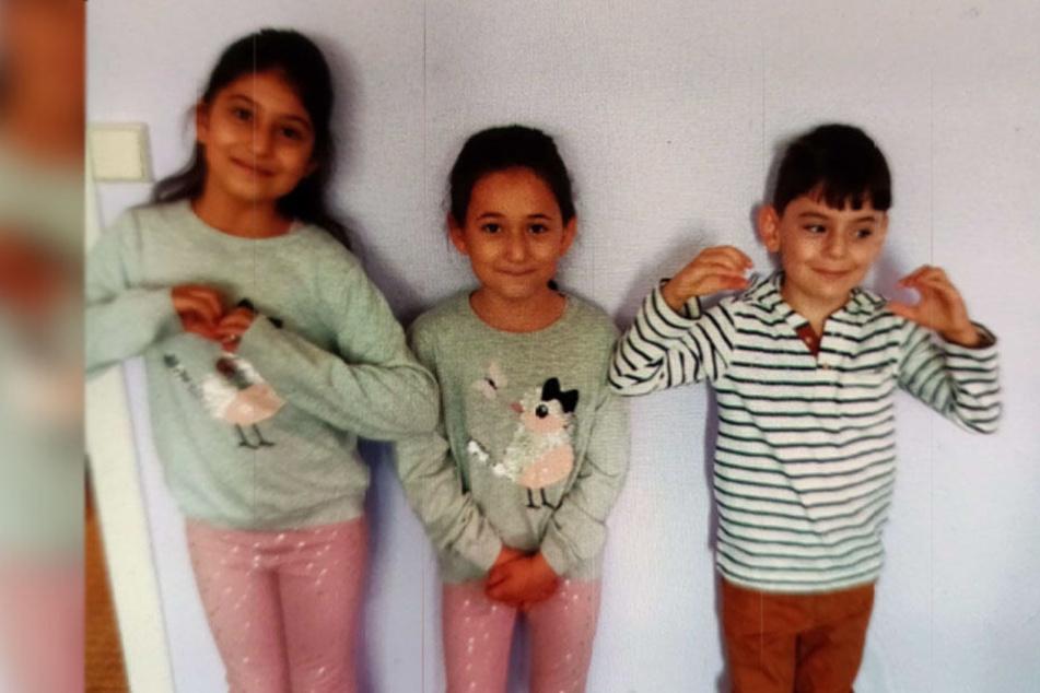 Amya, Layla und Subhi (v.l.) werden vermisst.