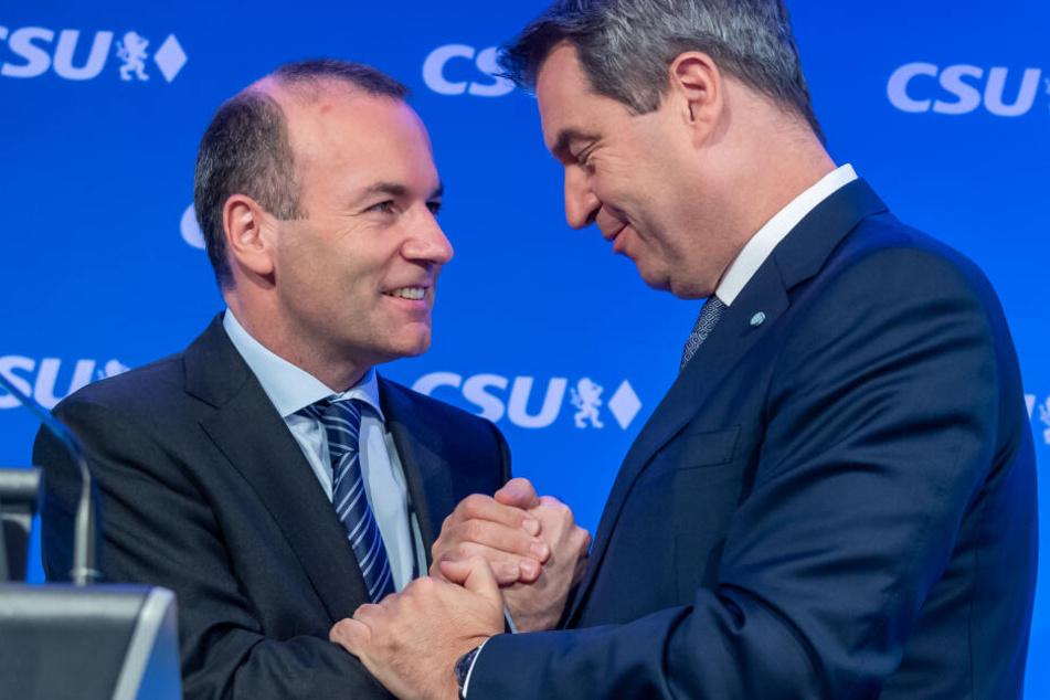 Söder zur Europawahl: Alle für Weber, Stärkung für AKK und Schelte für SPD