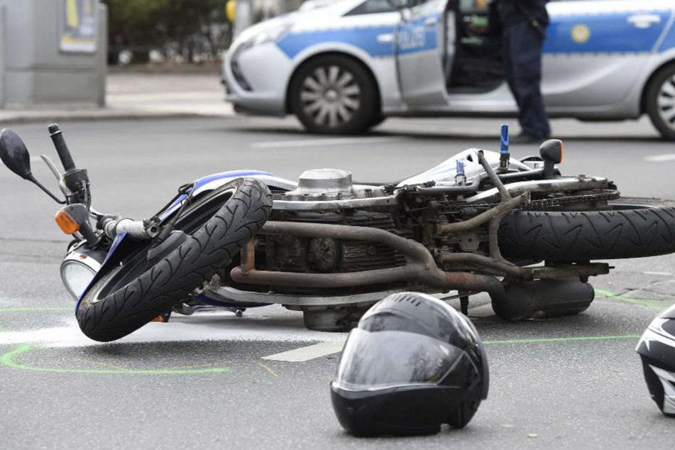 Am Wochenende kam es zu mehrere schweren Motorradunfällen. (Symbolbild)
