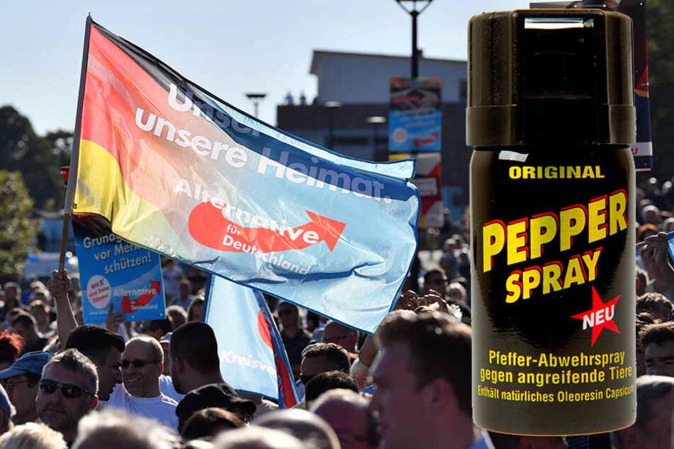 Die AfD hat in Rheinland-Pfalz Pfefferspray an Jugendliche verteilt.