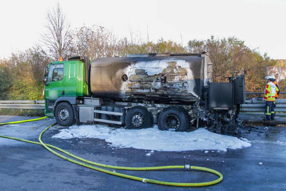 Der zerstörte Lastwagen.