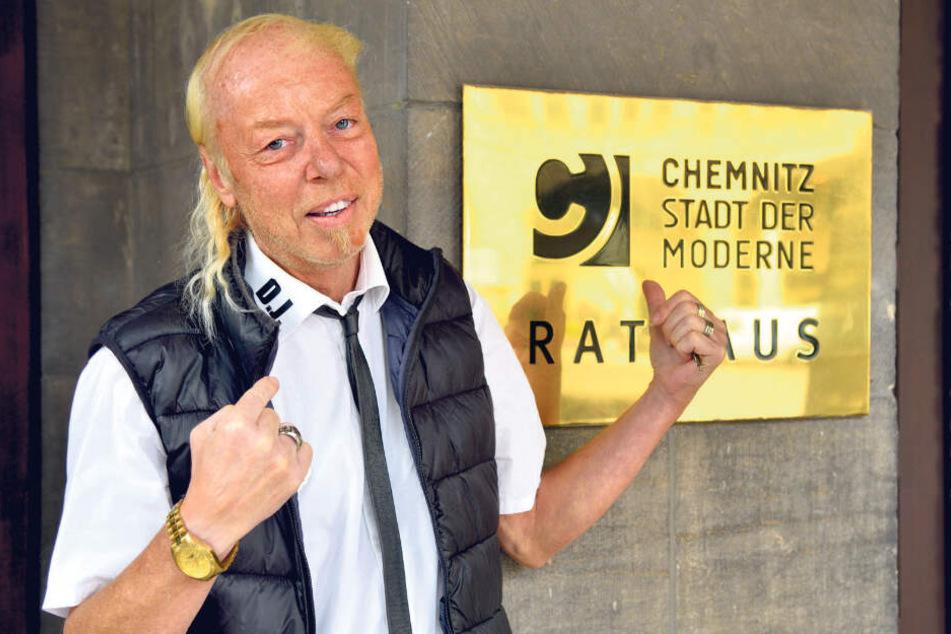 Jens-Uwe Jahn (57) braucht als Einzelkandidat 200 Unterstützer.