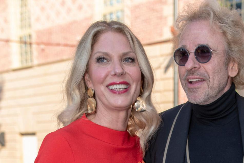 Moderator Thomas Gottschalk und seine Freundin Karina Mroß.