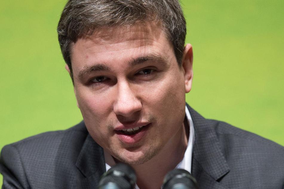 Stepan Kühn (38, Bündnis 90/ Die Grünen) versucht den Vorfall locker zu nehmen.