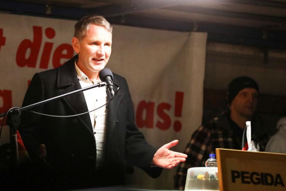 Björn Höcke (47, AfD) trat am Montagabend bei Pegida auf.