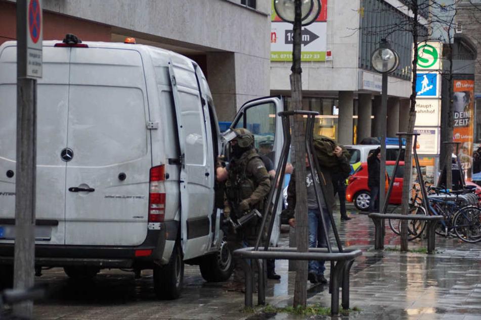 Das Sondereinsatzkommando der Polizei war im Einsatz.