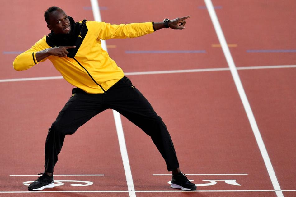 Läufer Usain Bolt im August 2017 im Olympiastadion in London.