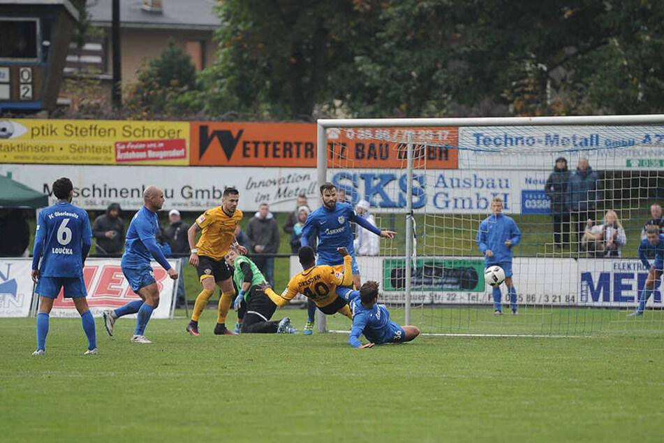Erich Berko (40) erzielte in  Neugersdorf den Treffer zum 3:0 für Dynamo.