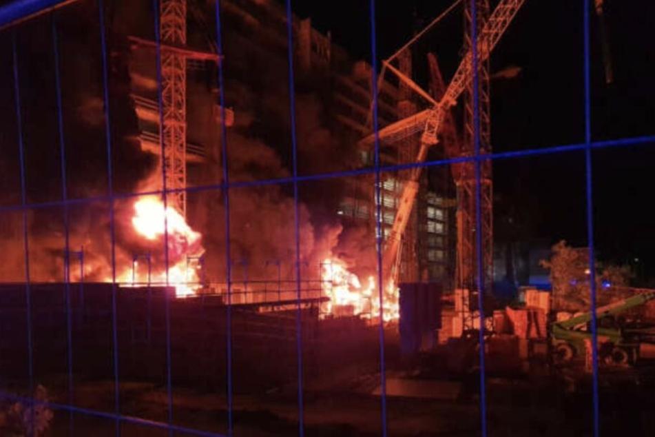 Anfang Oktober brannten mehrere Baukräne auf einer Großbaustelle im Leipziger Osten.