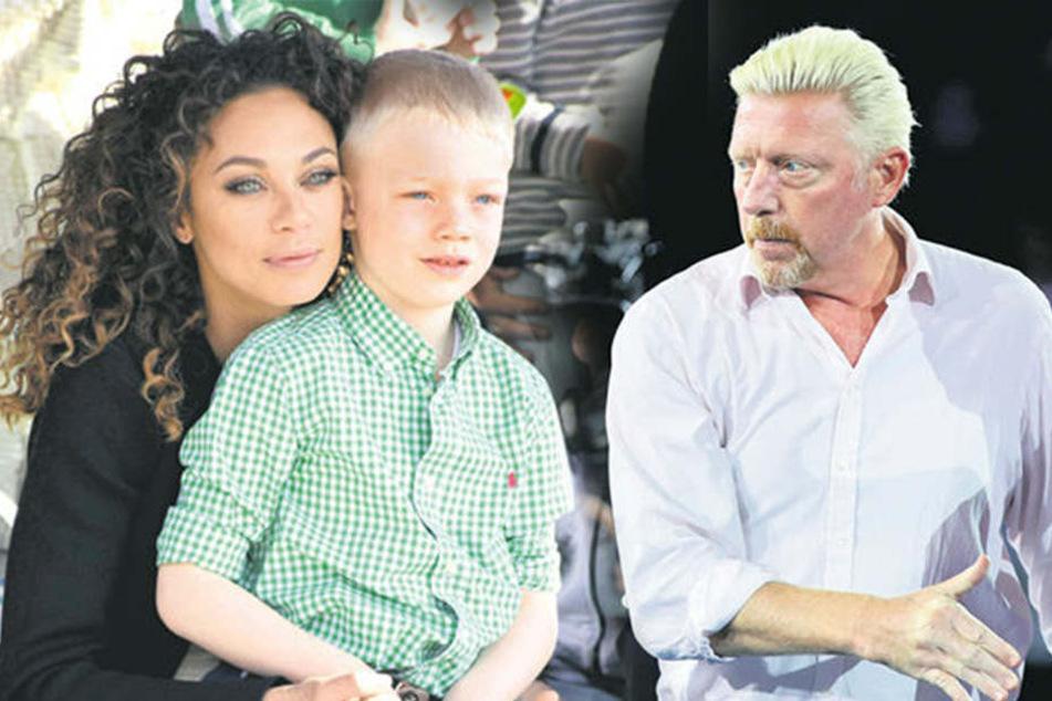Lilly Becker mit Sohn Amadeus bei einem Besuch im Legoland. Boris Becker kämpft um das Sorgerecht für seinen Sohn.