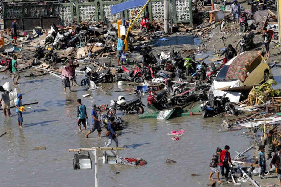 Das Erdbeben auf Sulawesi hinterließ Zerstörung und Leid.
