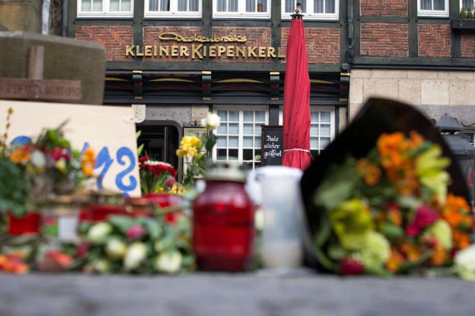 """Ahnungslos saßen die Opfer vor dem Restaurant """"Kleiner Kiepenkerl"""" in Münster."""