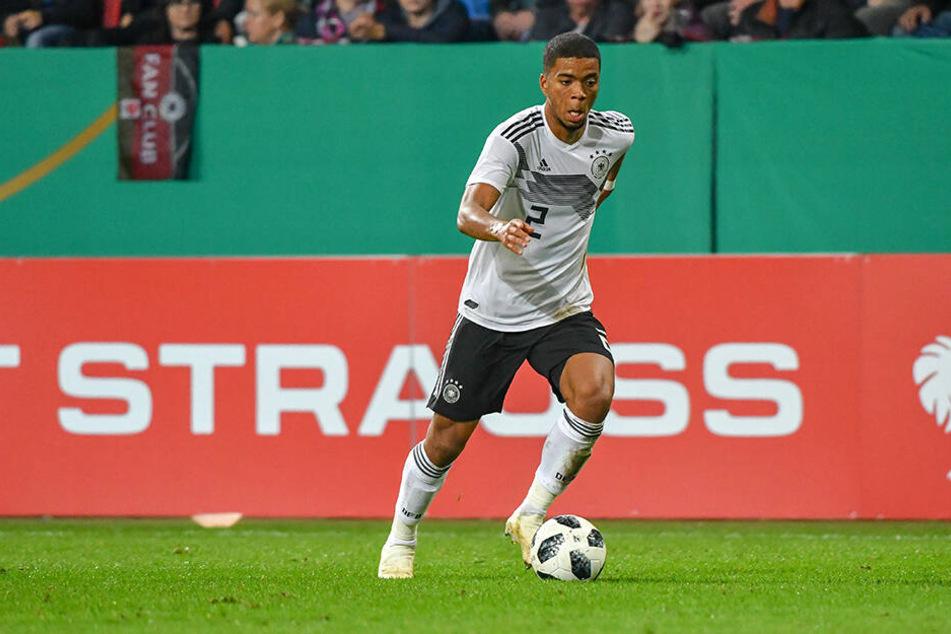 Henrichs im Trikot der deutschen U21-Nationalmannschaft