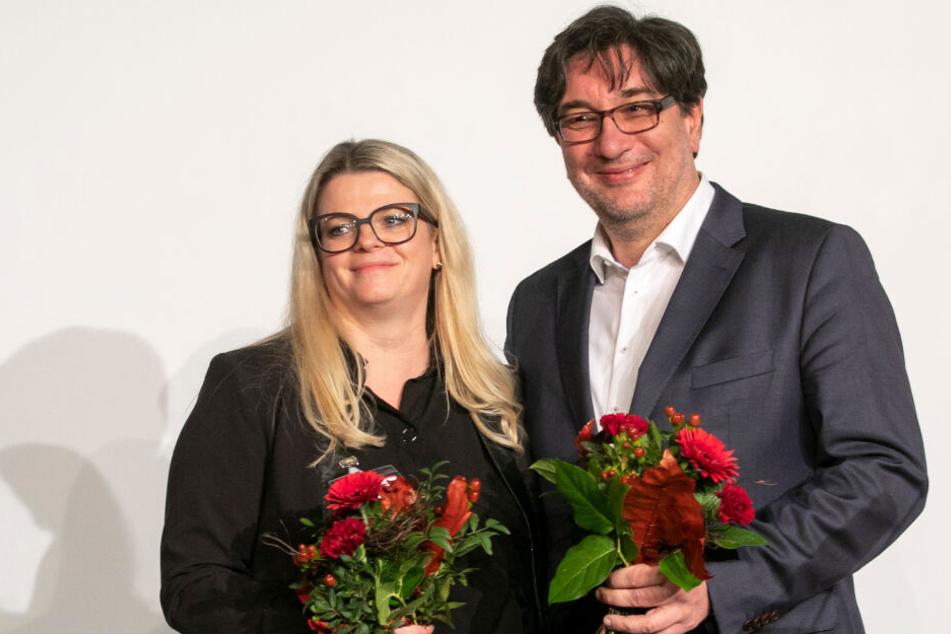 Susanne Schaper (41) und Stefan Hartmann (51) holten als gleichberechtigte Partei-Chefs mehr als 60 Prozent.
