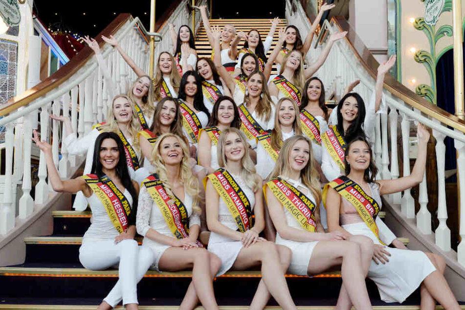 Diese 22 Damen wollen am 24. Februar den Wettbewerb gewinnen.