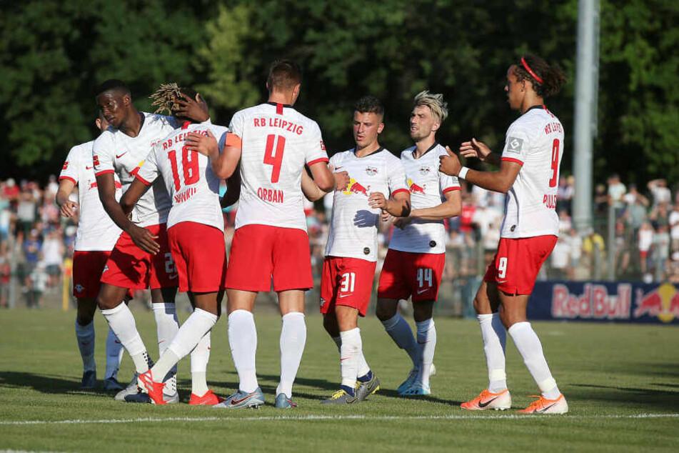 Im letzten Test gegen den französischen Pokalsieger Stade Rennes vor einer Woche in Markranstädt gewannen die Roten Bullen 2:0.