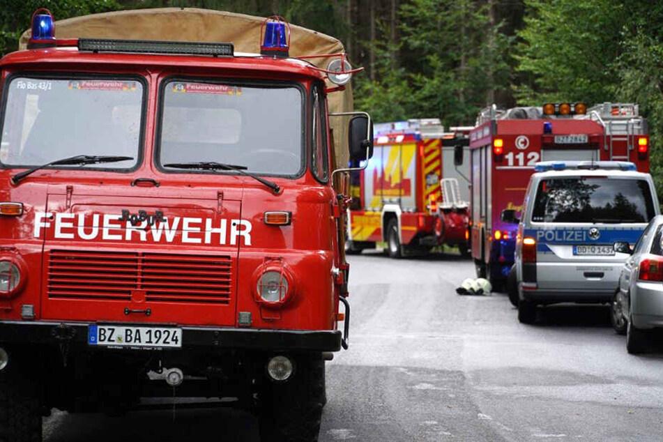 Feuerwehren und Polizei am Ort des Geschehens.