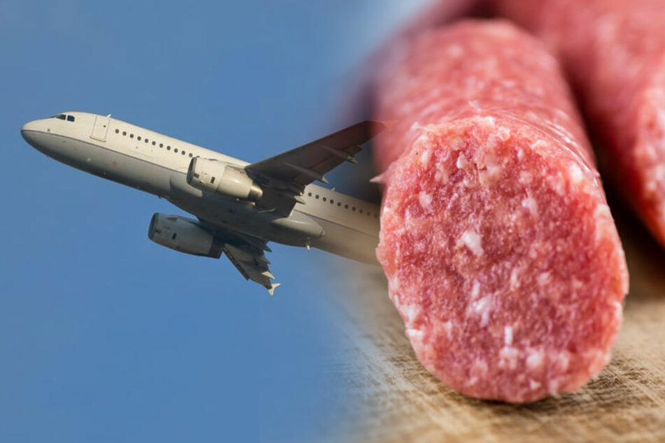 Wer eine Mettwurst im Handgepäck dabei hat, kommt nicht ins Flugzeug. (Symbolbild)