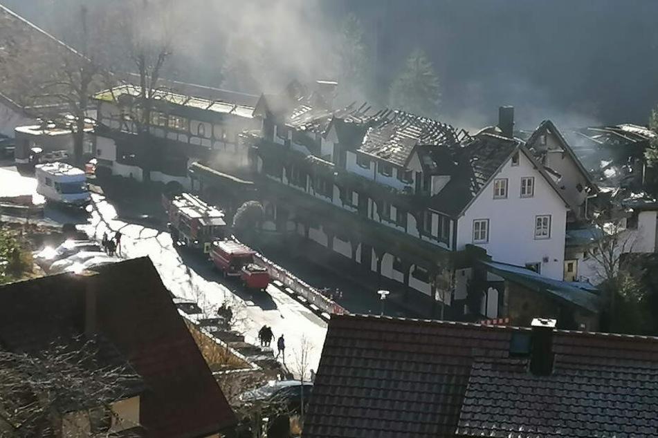 Die Brandschäden sind enorm.