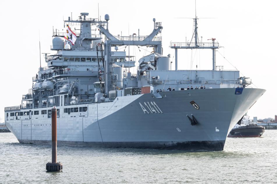"""Längste Fahrt der Marine ohne Landgang: """"Berlin"""" kehrt von Nato-Mission zurück"""