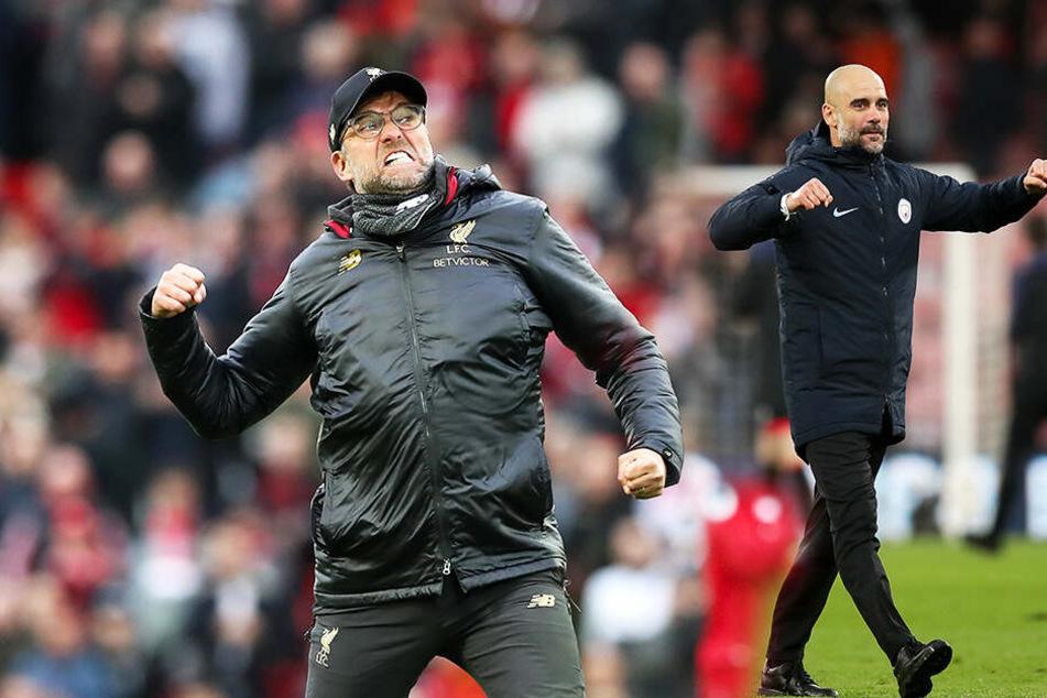 Spannender Meisterschaftskampf in England: Macht's ManCity oder Liverpool?