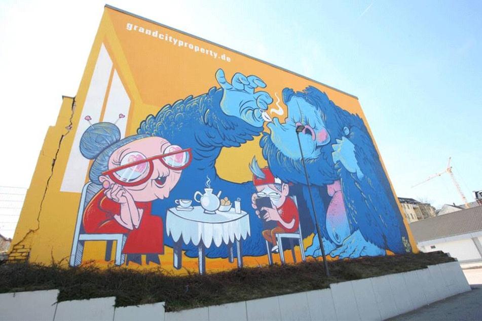 Das neueste Projekt von Rebel Art kann zwischen Limbacher Straße und Leonhardtstraße bewundert werden.
