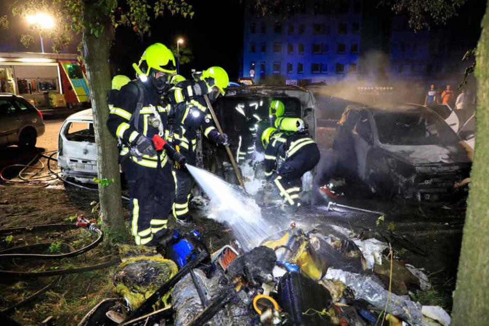 Kurz vor Mitternacht musste die Feuerwehr nach Gablenz ausrücken.
