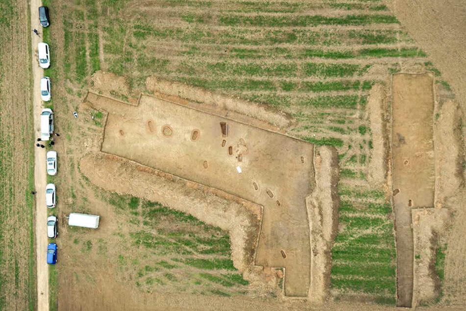 Rund 120 Gräber wurden auf einem 4000 Quadratmeter großen Areal in Warburg freigelegt.