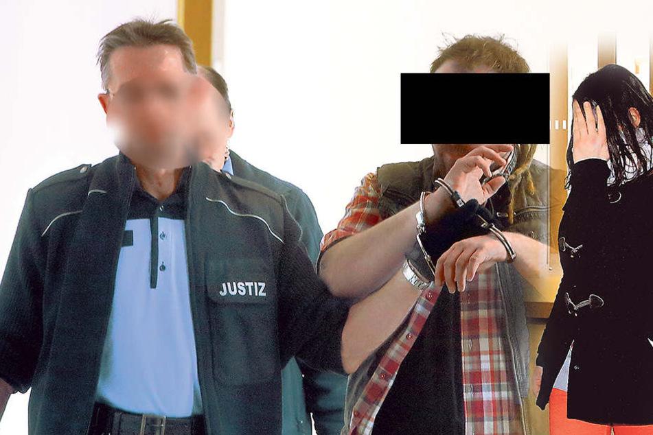 Philipp M. (30, Mitte) stand noch unter  Führungsaufsicht, als er erneut Taten beging. Rechts: Franziska K. (33)