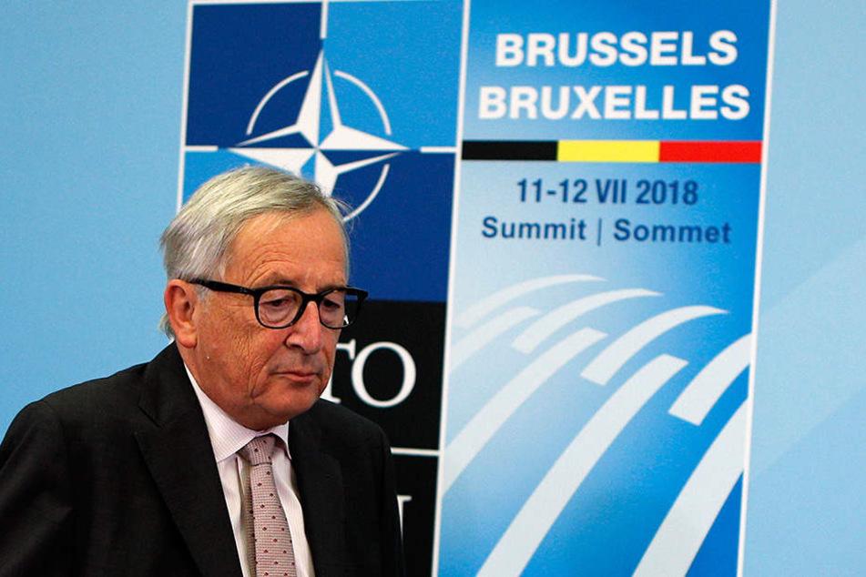 Jean-Claude Juncker empfängt derzeit die Staats- und Regierungschefs der 29 Nato-Mitgliedstaaten und Vertreter der EU beim Nato-Gipfeltreffen in Brüssel.