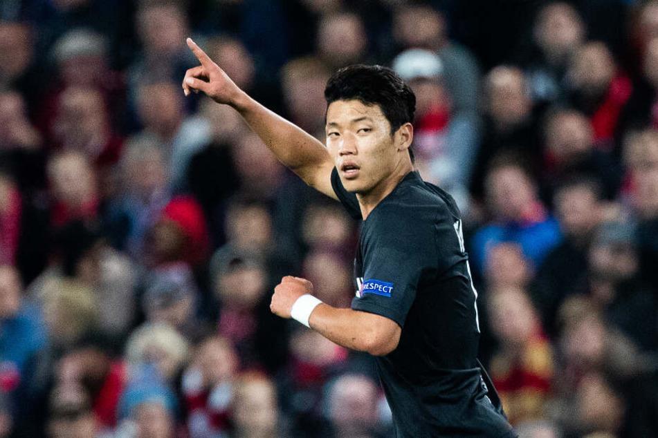Hee-chan Hwang trumpft bei RB Salzburg groß auf.