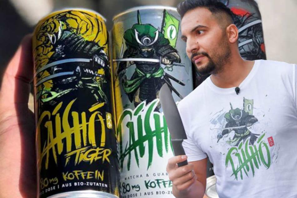 Der Berliner Veganator Attila Hildmann (37) will Kunden seines Energy-Drinks mit 100 Euro belohnen. (Bildmontage)