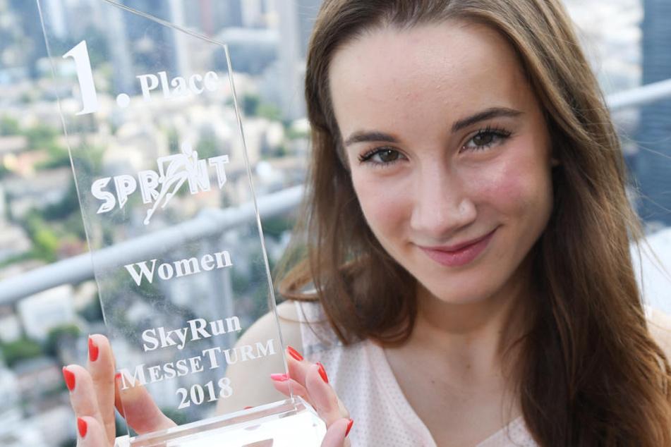 Zuzanna Kielak aus Polen war beim SkyRun 2018 die schnellste Frau.