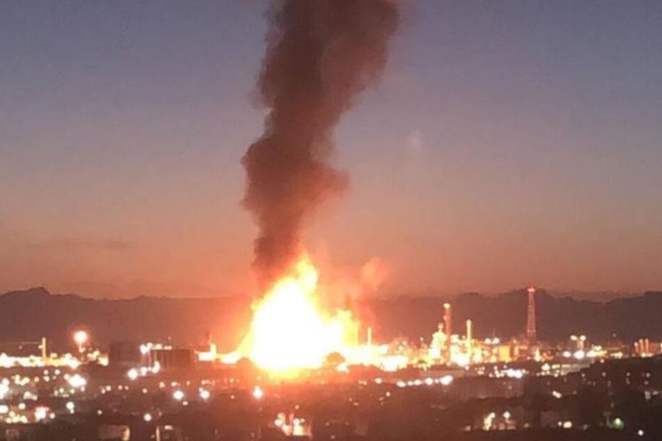 Die gewaltige Explosion war weithin sichtbar.