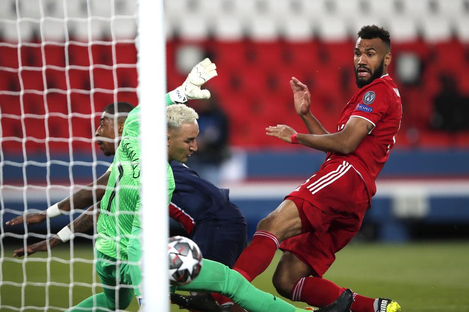 Eric Maxim Choupo-Moting (r.) köpfte den FC Bayern München gegen Paris Saint-Germain zum 1:0-Sieg in der Champions League.