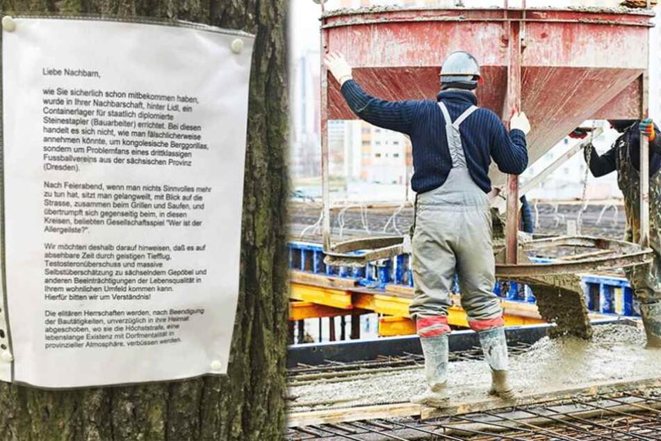 Berliner beleidigt sächsische Bauarbeiter und Dynamo Dresden