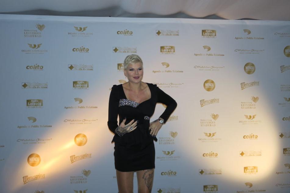 """Melanie Müller bei der Premiere der Dinnershow """"Passion""""."""