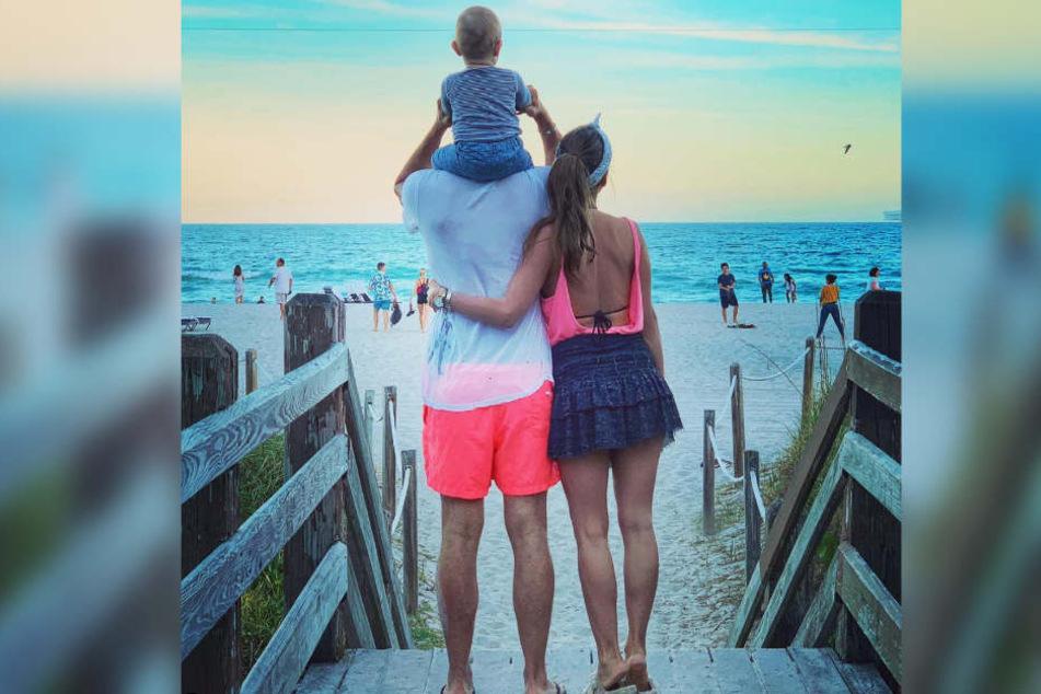 Familie Carpendale genießt ihren Urlaub in Florida.