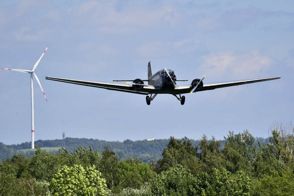Beim Zwickauer Flughafenfest war die Ju-52 ein gern gesehener Gast.