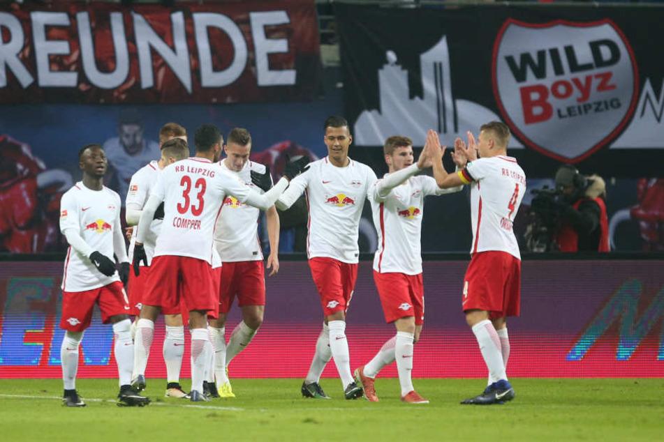 Souverän und ungefährdet: Gegen Eintracht Frankfurt feierten die Leipziger einen 3:0-Sieg.
