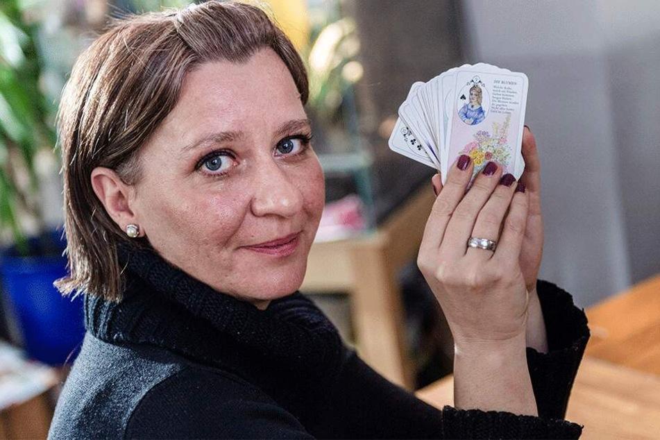 Für Chemnitz in die Karten geschaut: Anja Stein (41) vertraut auf Tarot.