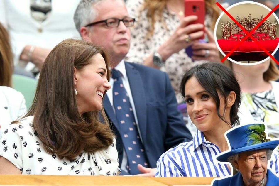 Zoff mit der Queen: Herzogin Kate darf, aber Meghan nicht!