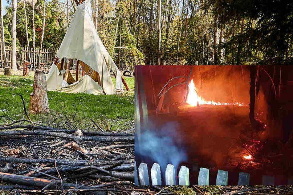 Während die Kinder friedlich schlummerten: Heimlicher Raucher legte im Indianerdorf Feuer
