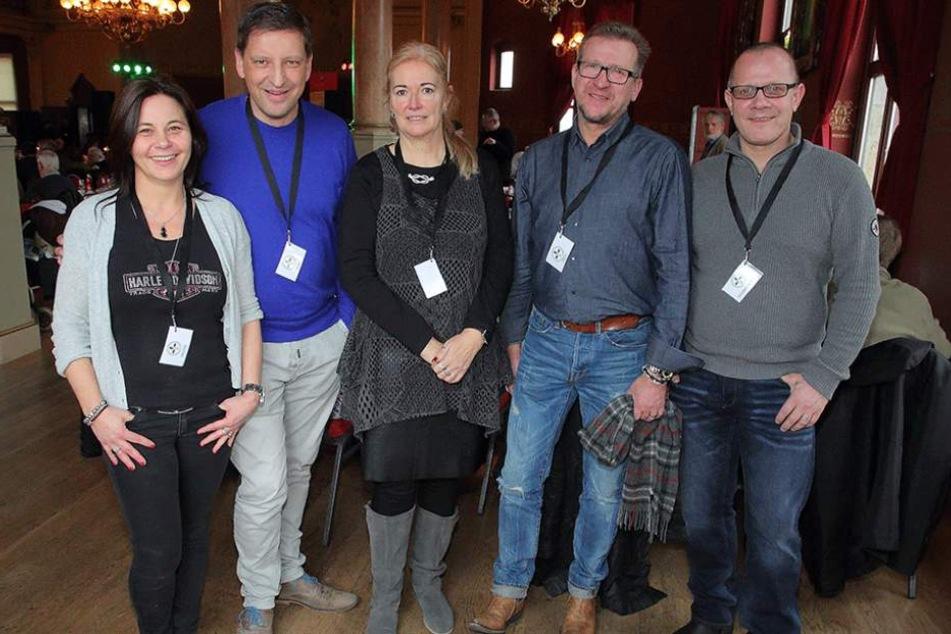 Sie bilden das Herz des neuen Vereins: Kathrin Melde (47), Jens Genschmar (47, FDP), Barbara Lässig (60, FDP), Uwe Riedel (55), Vereinschef Ingolf Knajder (53).