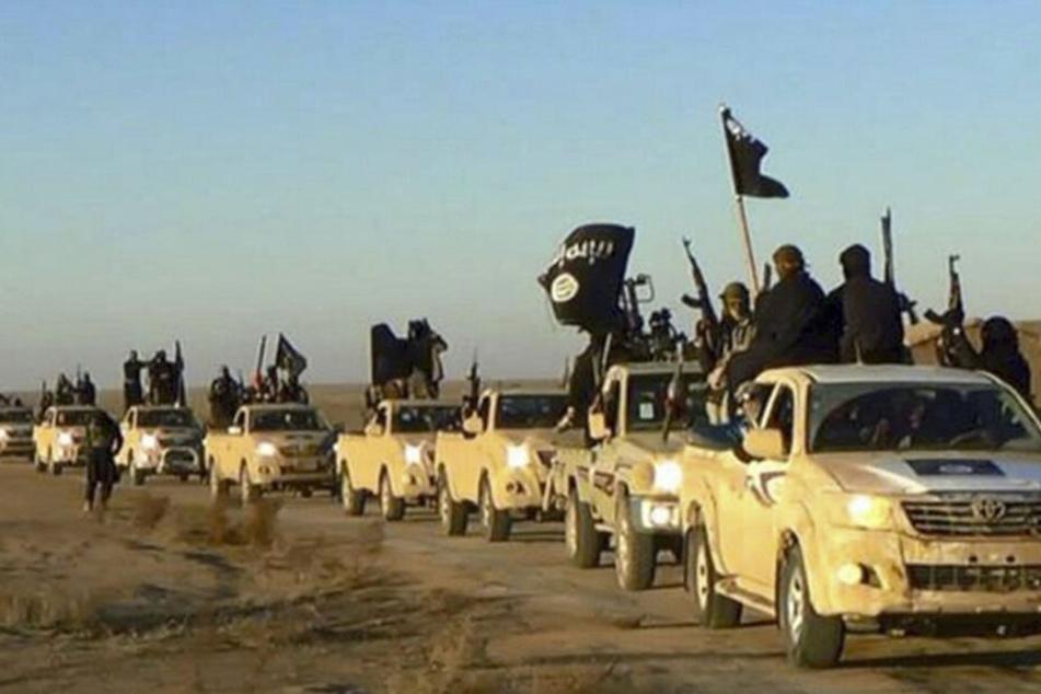 Undatiertes Foto, das einen Fahrzeugkonvoi mit Mitgliedern der Terrormiliz Islamischer Staat zeigt. Hier wollten die inzwischen Verurteilten vermutlich mitmischen.