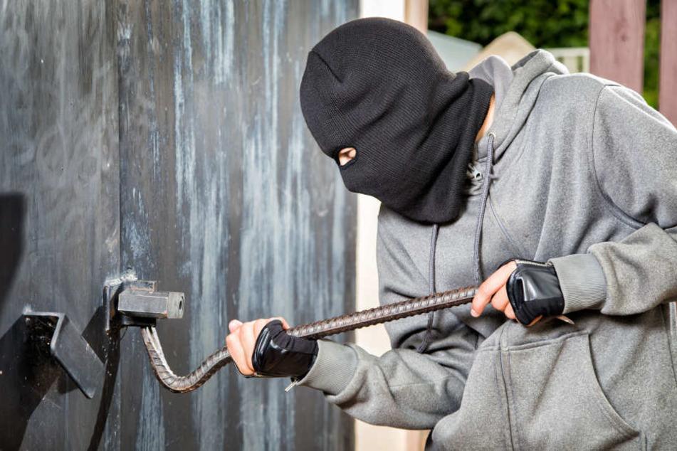 Die Einbrecher brachen in einen Container ein und klauten Werkzeug. (Symbolbild)