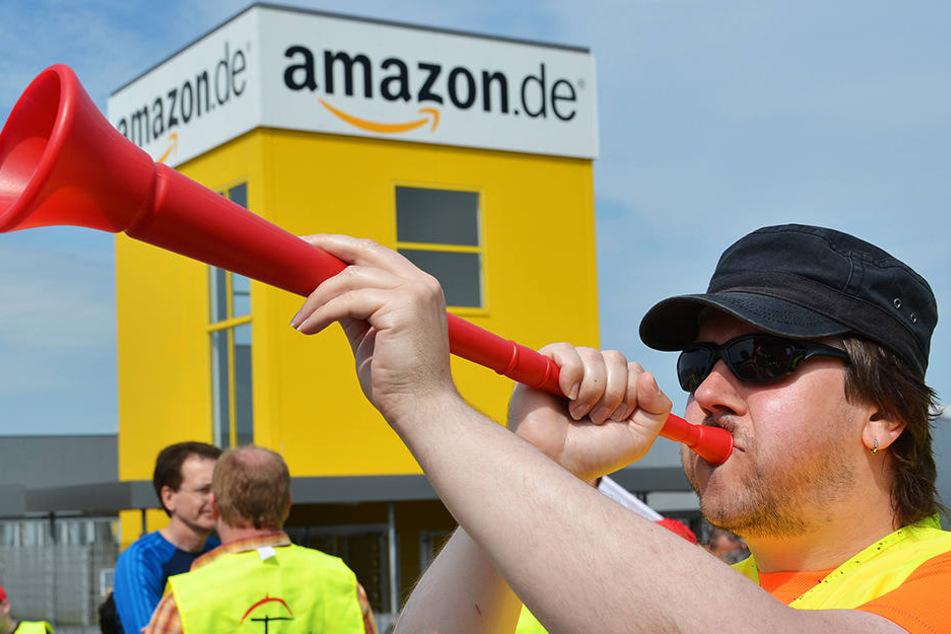 Bei Amazon wurde am Dienstag gestreikt. Am Mittwoch geht die Arbeitsniederlegung weiter.